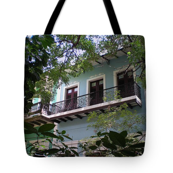 Balcony At La Caleta Tote Bag