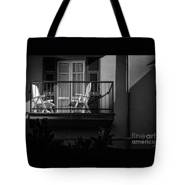 Balcony Bathed In Sunlight Tote Bag