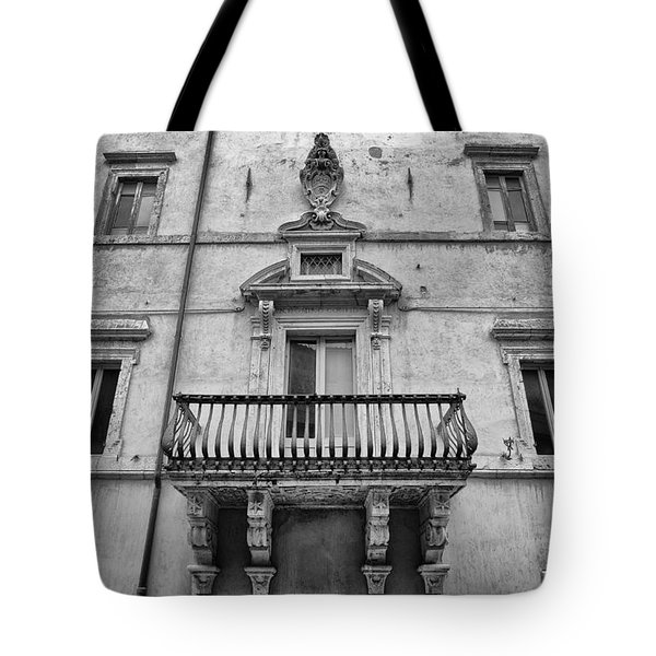 Balcony In Assisi Tote Bag