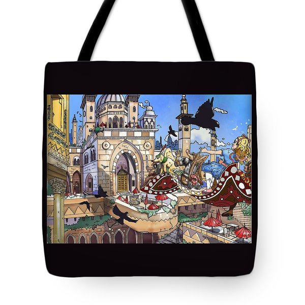 Balcony Of Princess Jasmine Tote Bag by Reynold Jay