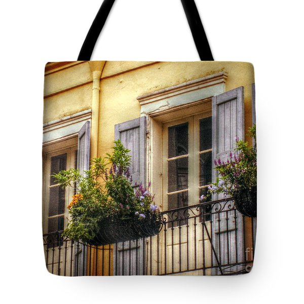 French Quarter Balcony Tote Bag by Valerie Reeves