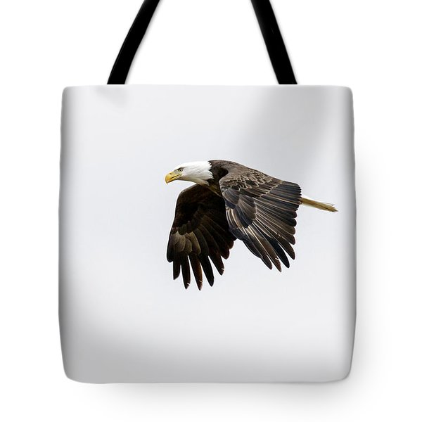 Tote Bag featuring the photograph Bald Eagle 3 by David Lester