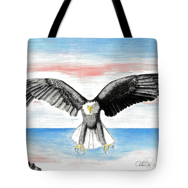 Bald Eagle Tote Bag by David Jackson