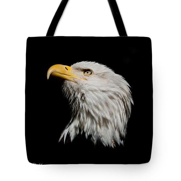 Bald Eagle Looking Skyward Tote Bag