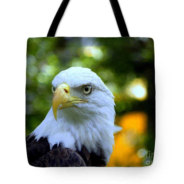 Tote Bag featuring the photograph Bald Eagle by Terri Mills