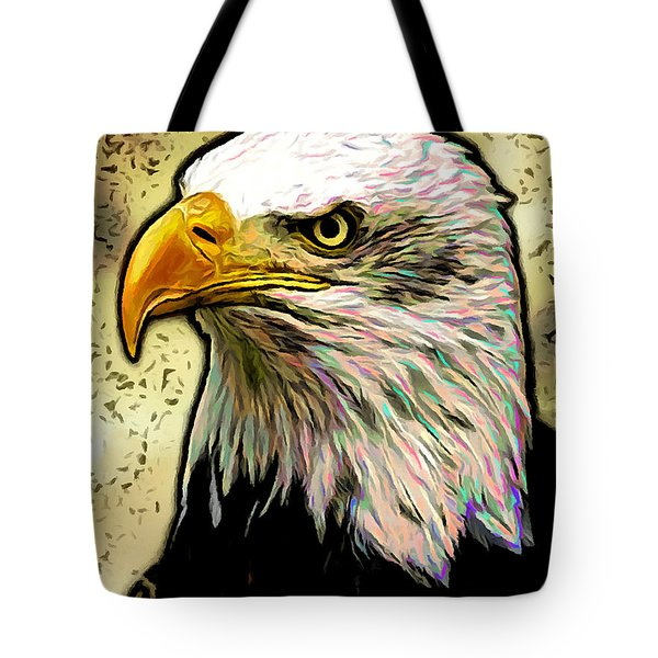 Bald Eagle Tote Bag by Ze  Di