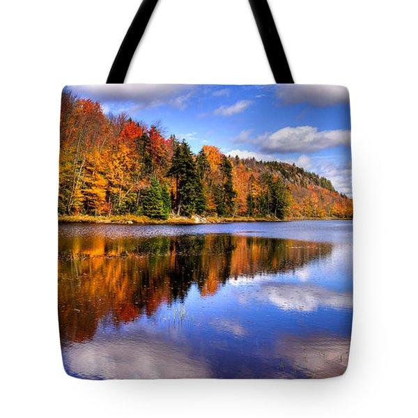 Bald Mountain Pond In The Adirondack Mountains Tote Bag