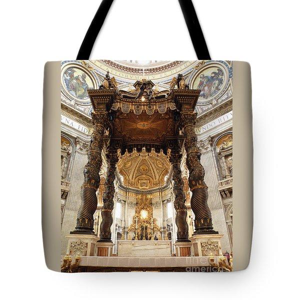 Baldacchino Di San Pietro Tote Bag