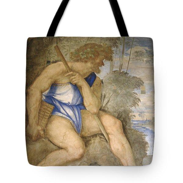 Baldassare Peruzzi 1481-1536. Italian Architect And Painter. Villa Farnesina. Polyphemus. Rome Tote Bag by Baldassarre Peruzzi