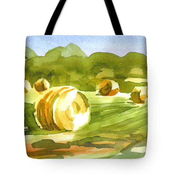 Bales In The Morning Sun Tote Bag