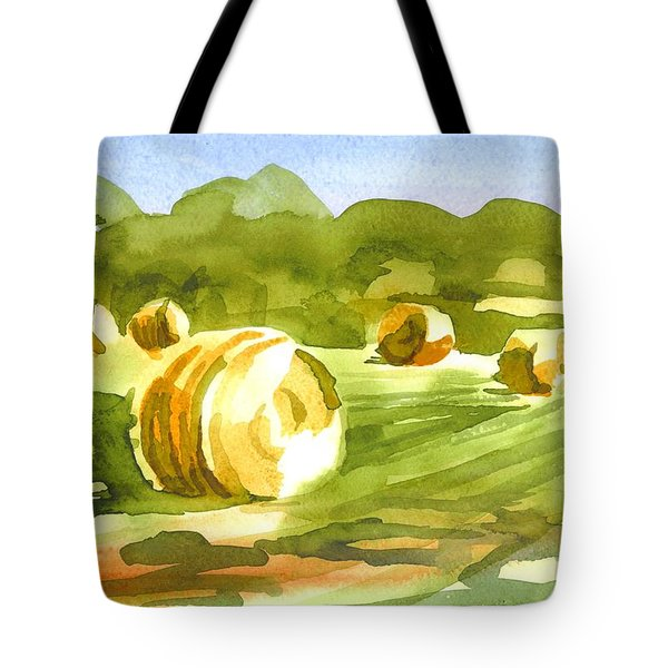 Bales In The Morning Sun Tote Bag by Kip DeVore