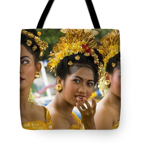 Balinese Dancers Tote Bag by David Smith