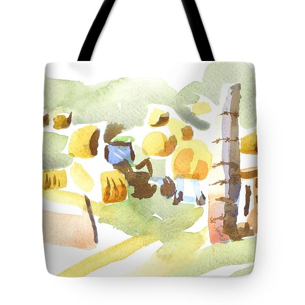 Baling Hay In The Abstract Tote Bag by Kip DeVore
