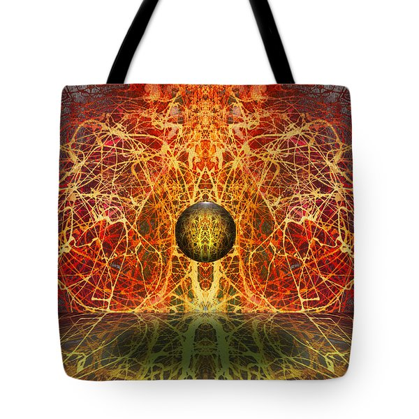 Tote Bag featuring the digital art Ball And Strings by Otto Rapp