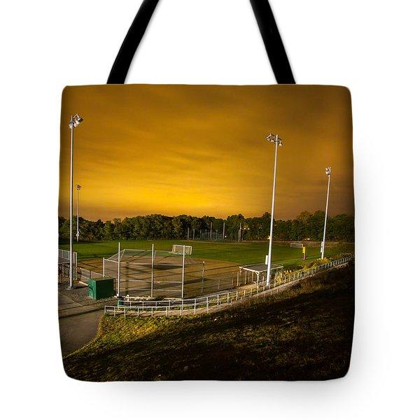 Ball Field At Night Tote Bag