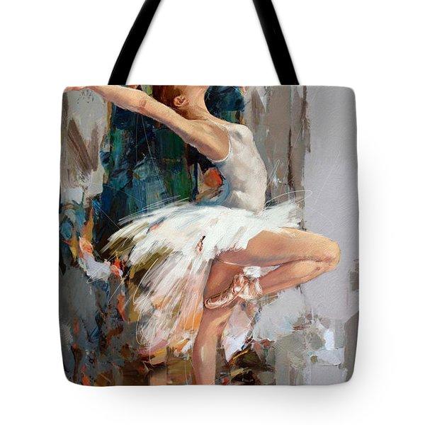 Ballerina 22 Tote Bag by Mahnoor Shah