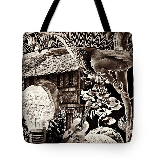 Tote Bag featuring the mixed media Ballerina Dreams by Ally  White