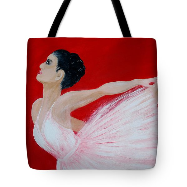 Ballerina.  Grace. Inspirations Collection Tote Bag by Oksana Semenchenko