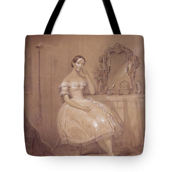 Ballerina In 19th Century Ballet Tote Bag