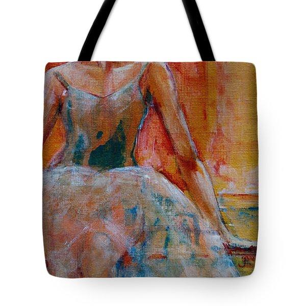Ballerina In Repose Tote Bag by Jani Freimann
