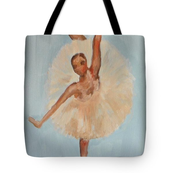Tote Bag featuring the painting Ballerina by Marisela Mungia