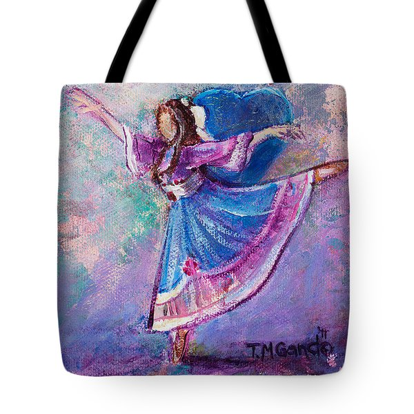 Tote Bag featuring the painting Ballerina by TM Gand