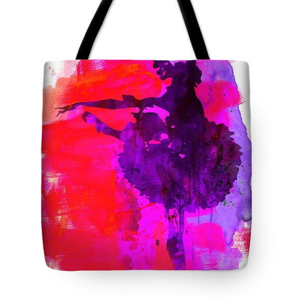 Ballerina Watercolor 3 Tote Bag by Naxart Studio