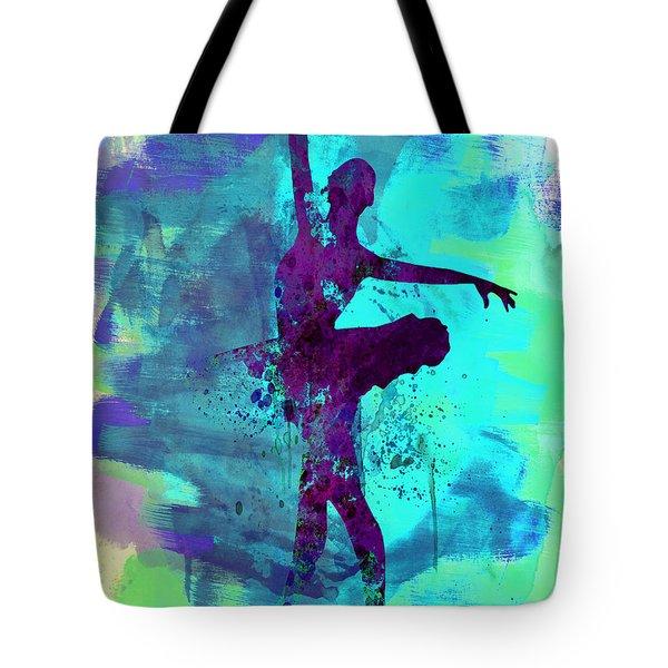 Ballerina Watercolor 4 Tote Bag