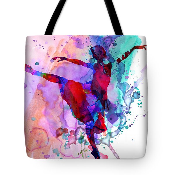 Ballerina's Dance Watercolor 1 Tote Bag