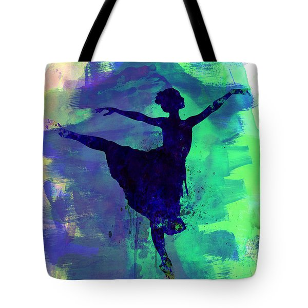Ballerina's Dance Watercolor 2 Tote Bag