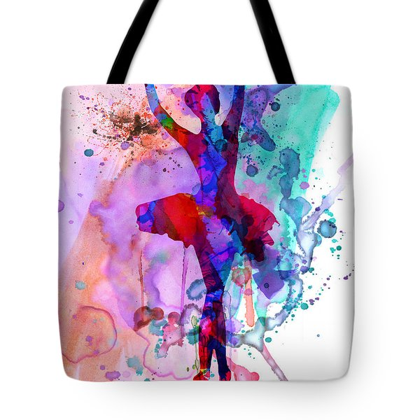 Ballerina's Dance Watercolor 3 Tote Bag