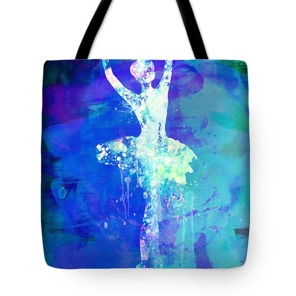 Ballerina's Dance Watercolor 4 Tote Bag