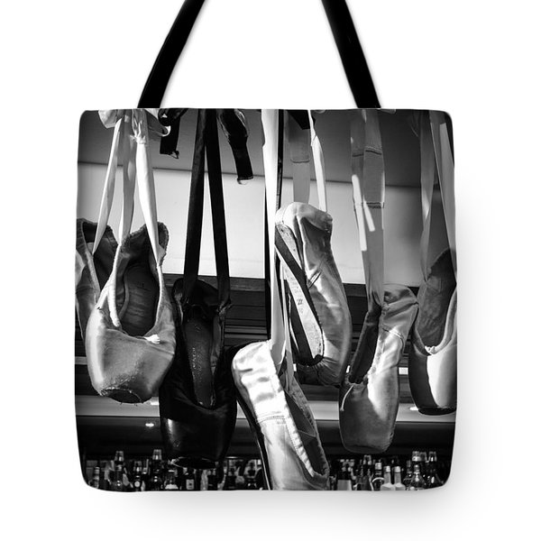 Tote Bag featuring the photograph Ballet At The Bar by Peta Thames