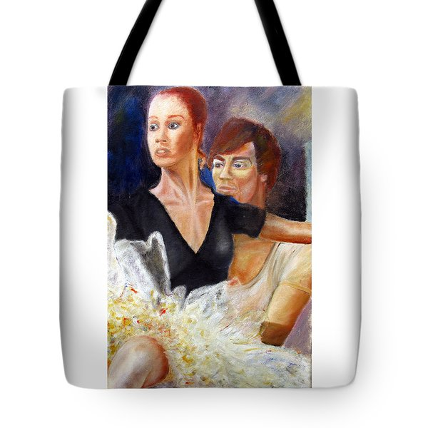 Ballet Dancers Rehearse For La Bayadere Tote Bag