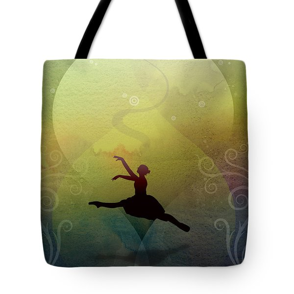 Ballet In Solitude - Color Verde Tote Bag by Peter Awax