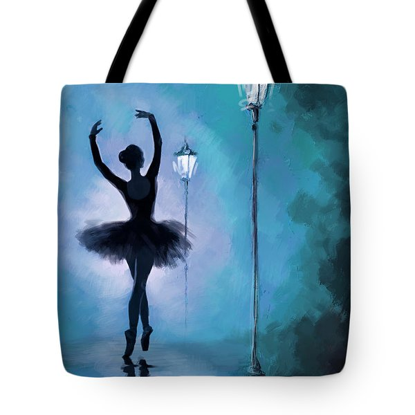 Ballet In The Night  Tote Bag