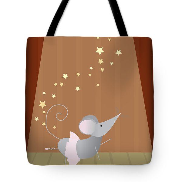 Ballet Mouse Nursery Art Girl Tote Bag by Christy Beckwith