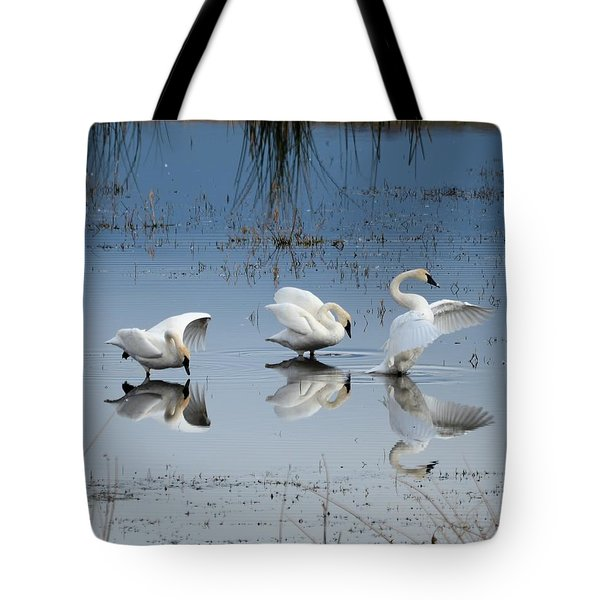 Dance Of The Trumpeters Tote Bag