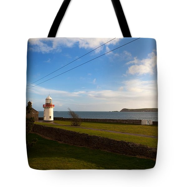 Ballinacourty Lighthouse, Dungarvan Tote Bag