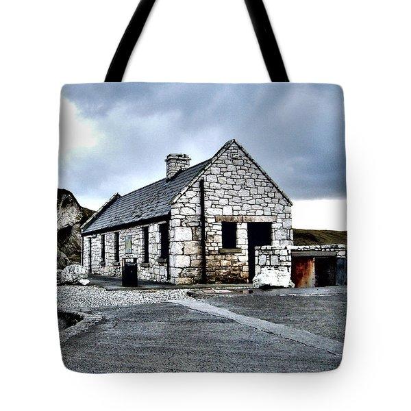 Ballintoy Stone House Tote Bag by Nina Ficur Feenan