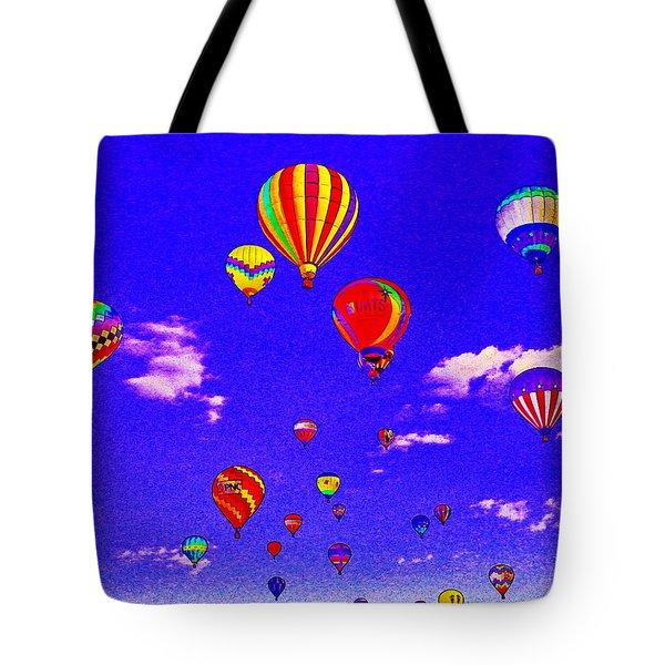 Ballon Race Tote Bag