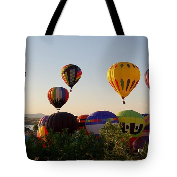 Balloon Festival Tote Bag