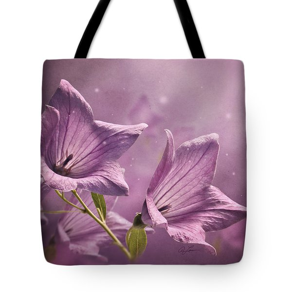 Tote Bag featuring the photograph Balloon Flowers by Ann Lauwers