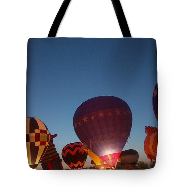 Balloon-glow-7808 Tote Bag by Gary Gingrich Galleries