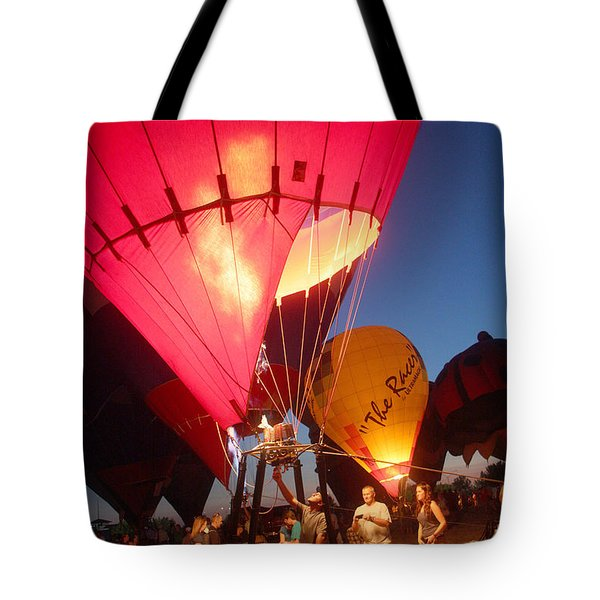 Balloon-glow-7831 Tote Bag by Gary Gingrich Galleries