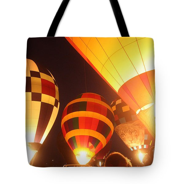 Balloon-glow-7950 Tote Bag by Gary Gingrich Galleries