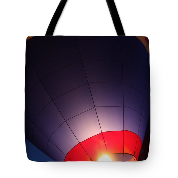 Balloon-glowpurple-7710 Tote Bag by Gary Gingrich Galleries