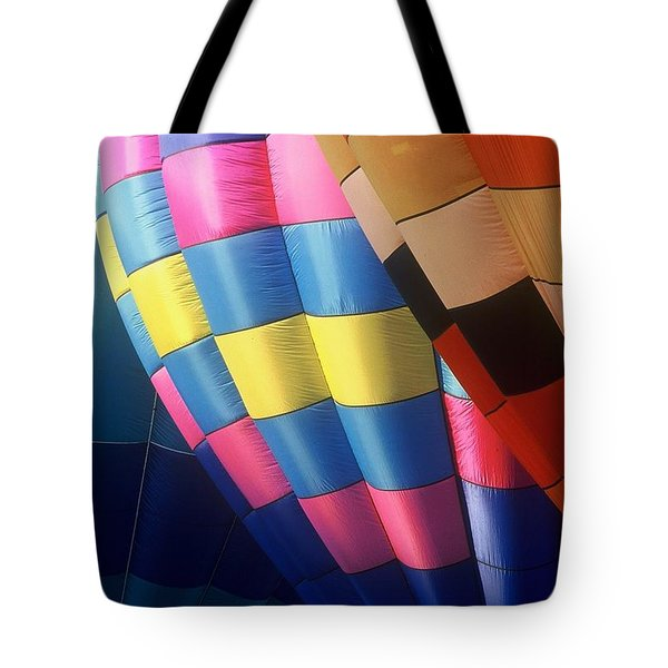Tote Bag featuring the photograph Balloon Patterns by Rodney Lee Williams