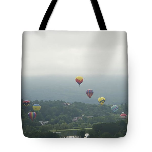 Balloon Rise Over Quechee Vermont Tote Bag