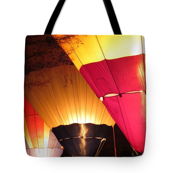 Balloons At Night Tote Bag by Laurel Powell